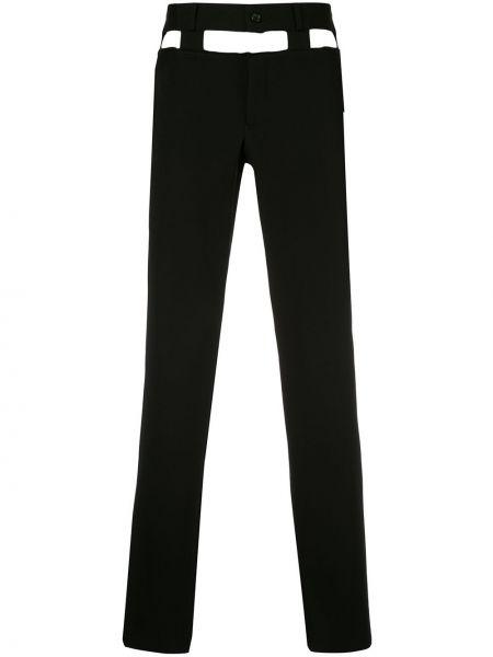 Czarne spodnie wełniane Comme Des Garcons Homme Plus