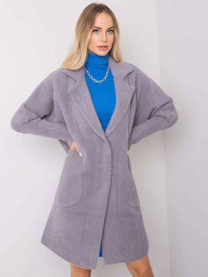 Płaszcz wełniany - szary Fashionhunters