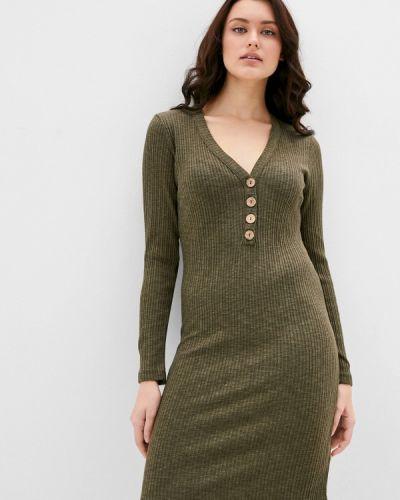 Прямое зеленое платье Sublevel