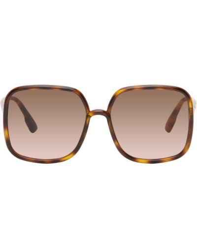 Розовые солнцезащитные очки квадратные Dior