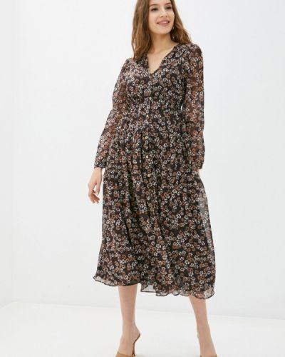 Прямое коричневое платье Rinascimento