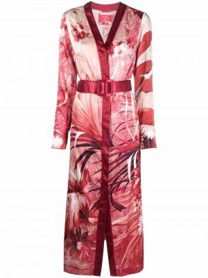 Sukienka midi w kwiaty z długimi rękawami bawełniana F.r.s For Restless Sleepers