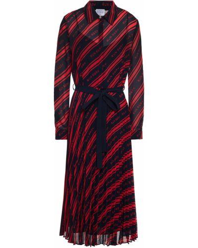 Платье миди на пуговицах - синее Claudie Pierlot