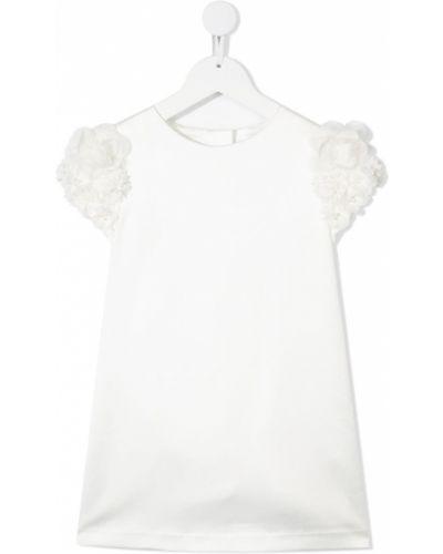 Biała sukienka mini krótki rękaw bawełniana Charabia