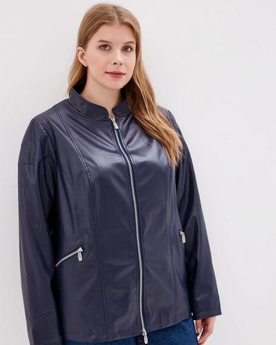 Кожаная куртка осенняя синий Jp