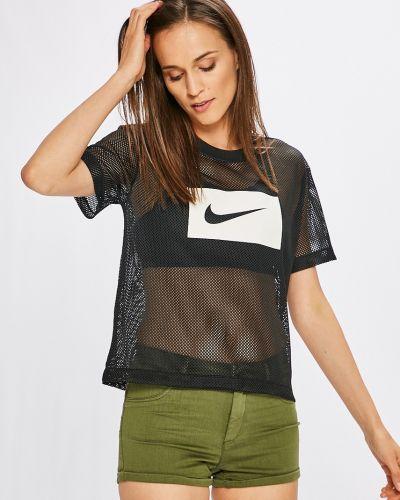 Спортивная футболка свободная черная Nike Sportswear