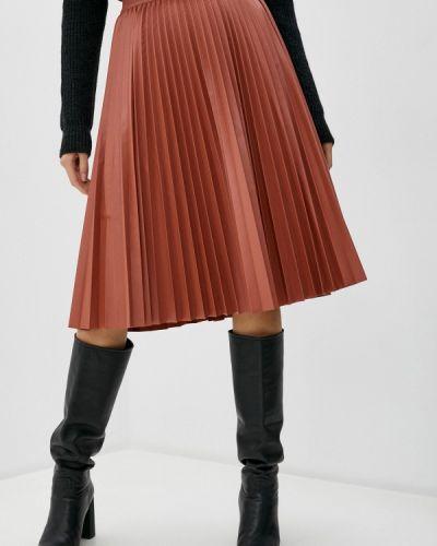 Коричневая кожаная юбка Max&co