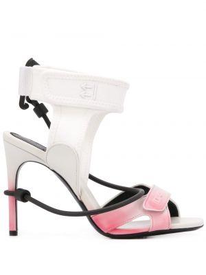 Туфли на каблуке на высоком каблуке с открытым носком Off-white
