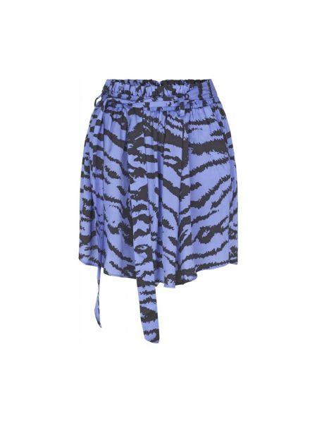 Niebieska spódnica elegancka Ravn