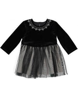 Платье с рукавами велюровое короткое La Redoute Collections