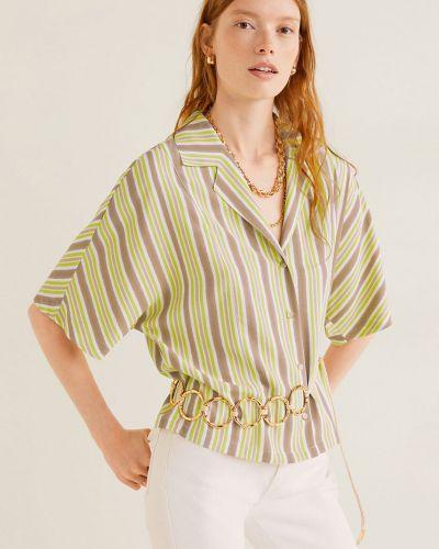 Блузка в полоску с поясом Mango