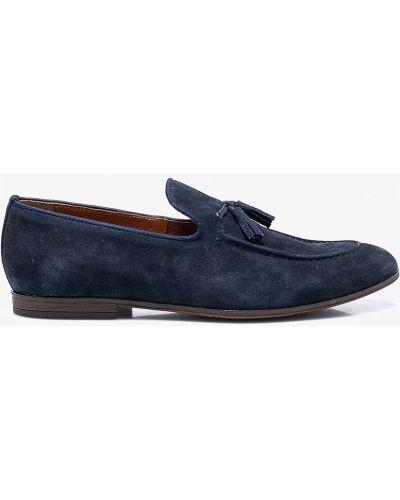 Кожаные туфли замшевые Domeno