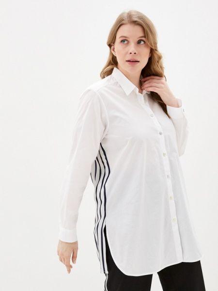 Белая блузка с длинным рукавом Over