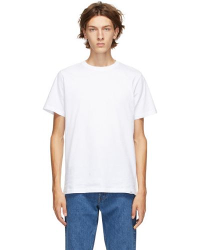 Bawełna biały koszula krótkie z krótkim rękawem krótkie rękawy z kołnierzem Norse Projects