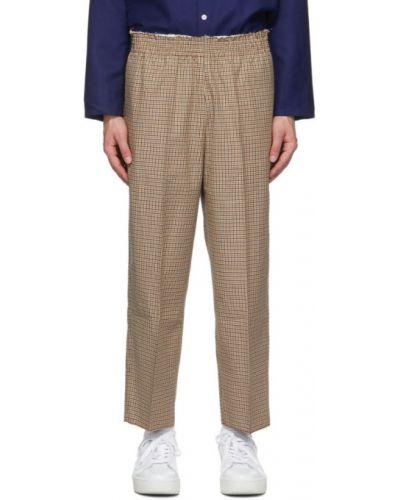 Шерстяные брючные черные брюки с карманами Camiel Fortgens