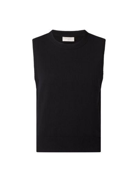 Prążkowana czarna kamizelka bawełniana Free/quent