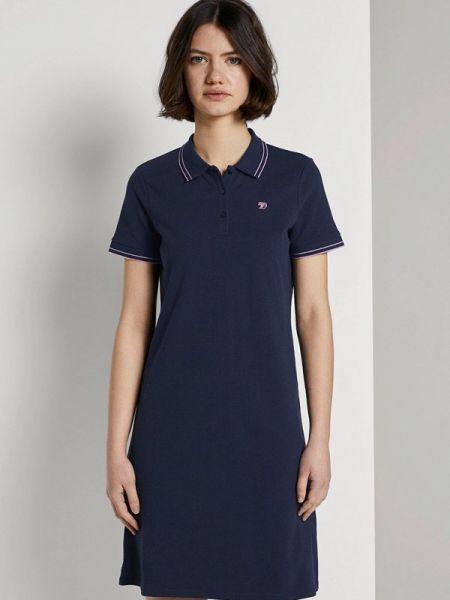 Джинсовое платье футболка синее Tom Tailor Denim