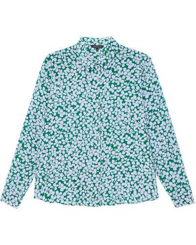 Зеленая блузка прямая Tara Jarmon
