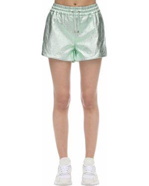 Однобортные шорты с карманами мятные металлические Coco Cloude