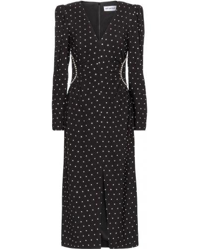 Черное платье миди из вискозы Self-portrait
