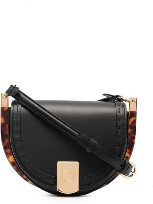 Czarna torebka skórzana Fendi