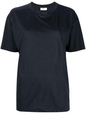 Синяя с рукавами футболка с вырезом Closed