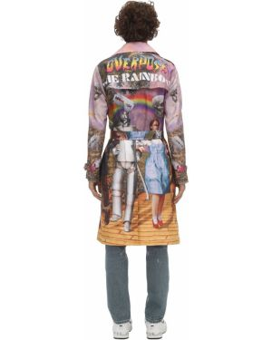 Płaszcz z paskiem bawełniany z printem Klsh - Kids Love Stain Hands