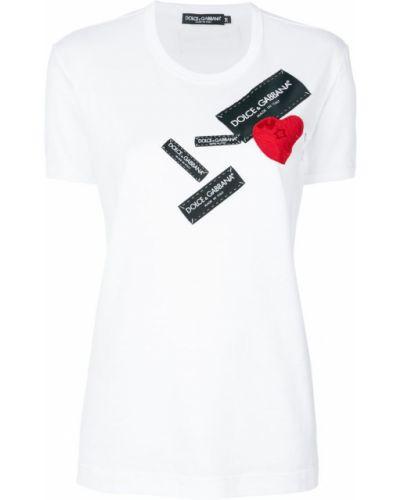 Белая футболка с логотипом Dolce & Gabbana