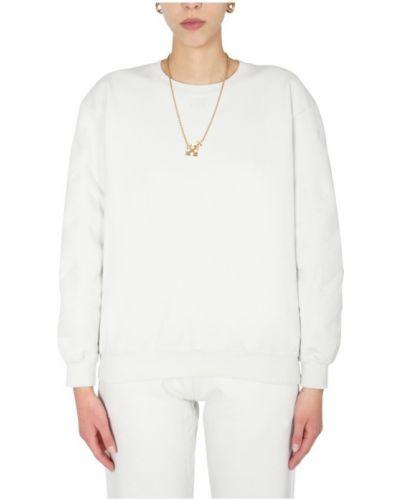 Bluza z nadrukiem z printem - biała Off-white