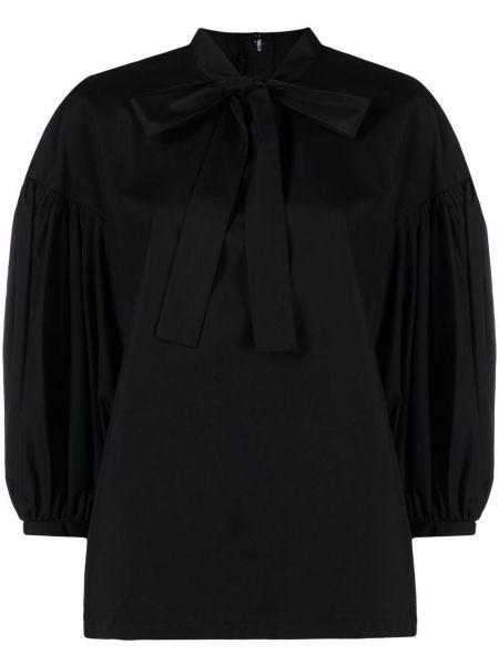 Пышная черная блузка с бантом Comme Des Garçons Comme Des Garçons