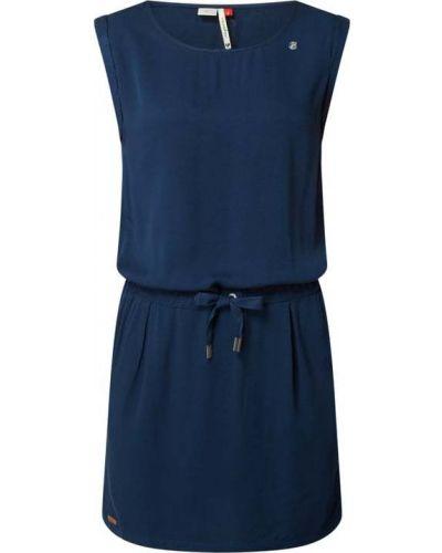 Niebieska sukienka z wiskozy Ragwear
