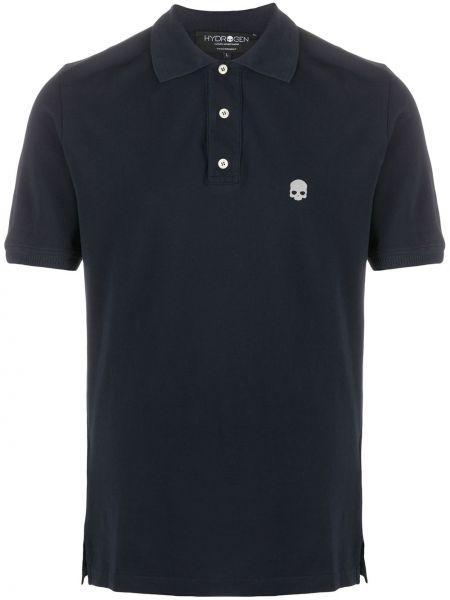 Niebieska koszula krótki rękaw bawełniana Hydrogen