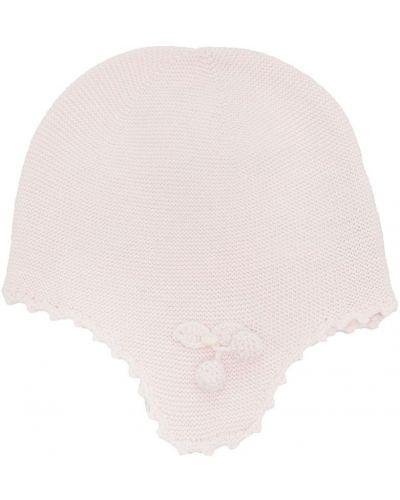 Ватная вязаная розовая шапка из вискозы Tartine Et Chocolat
