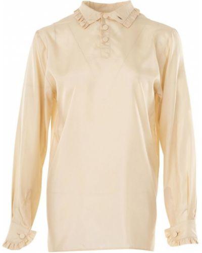 Bluzka elegancka z długimi rękawami z falbanami Gucci Vintage