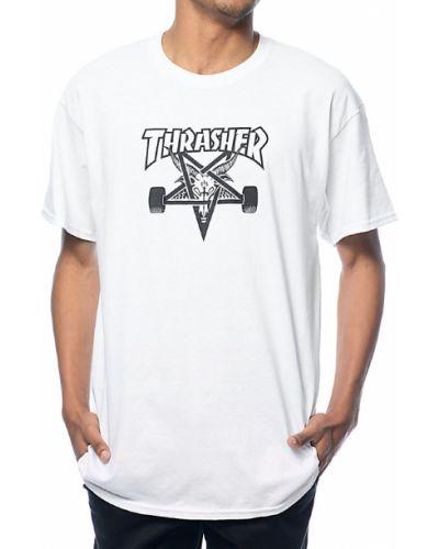 Белая футболка Thrasher