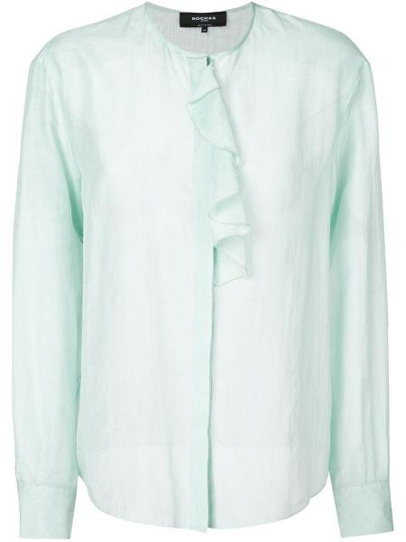 Блузка с оборками на пуговицах Rochas