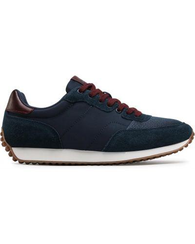 Кожаные кроссовки - синие Sprandi