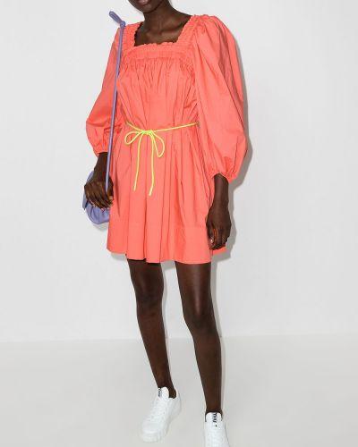 Хлопковое платье мини - оранжевое Zimmermann