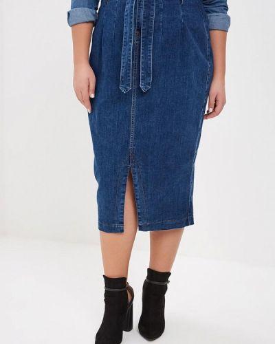 Джинсовая юбка синяя Lost Ink Plus
