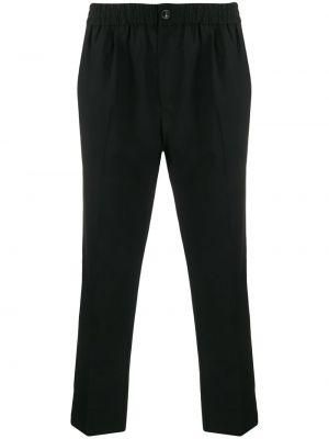 Czarne spodnie eleganckie wełniane Ami