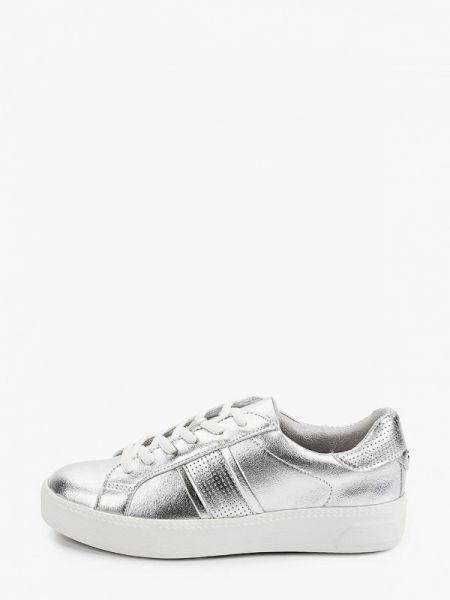 Серебряные кроссовки Tamaris