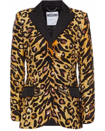 Пиджак с карманами с пайетками на пуговицах Moschino