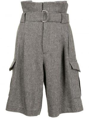 Серые хлопковые шорты с поясом Goen.j