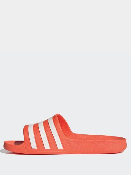 Мягкие красные шлепанцы Adidas
