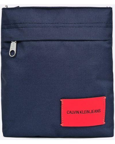 Мерцающая синяя сумка через плечо Calvin Klein