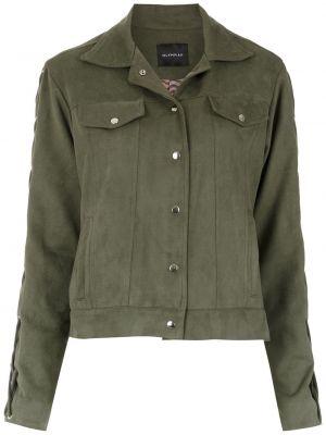 Зеленая куртка с воротником с карманами Olympiah