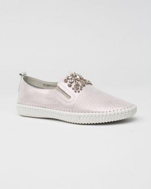 Кожаные туфли - розовые Oeego