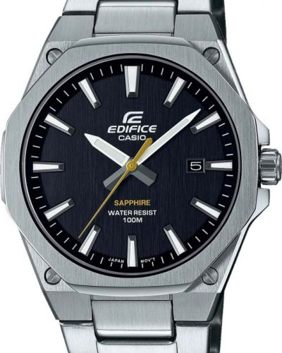 Повседневные серебряные часы водонепроницаемые Casio