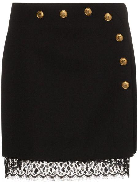 Юбка мини на пуговицах черная Givenchy