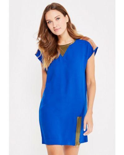 Платье осеннее синее Sisley